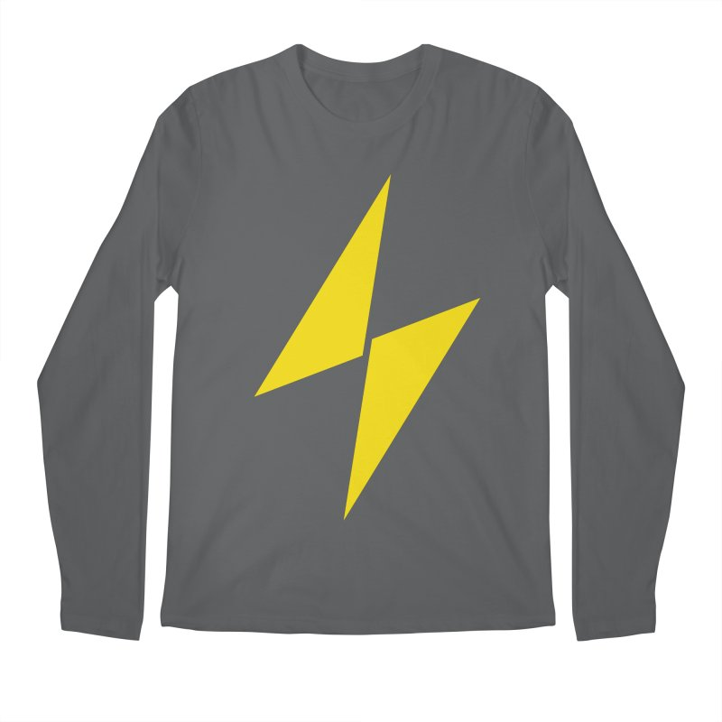 Electric Bolt - Full Frontal Men's Longsleeve T-Shirt by Electric Graphic Design