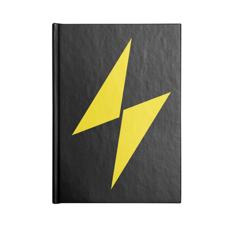 Electric Bolt - Full Frontal Accessories Notebook by Electric Graphic Design