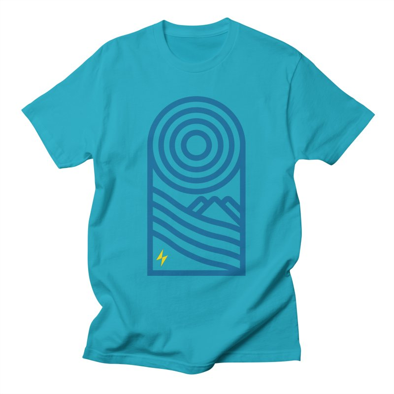 Mountain Geometry Men's T-Shirt by Electric Graphic Design