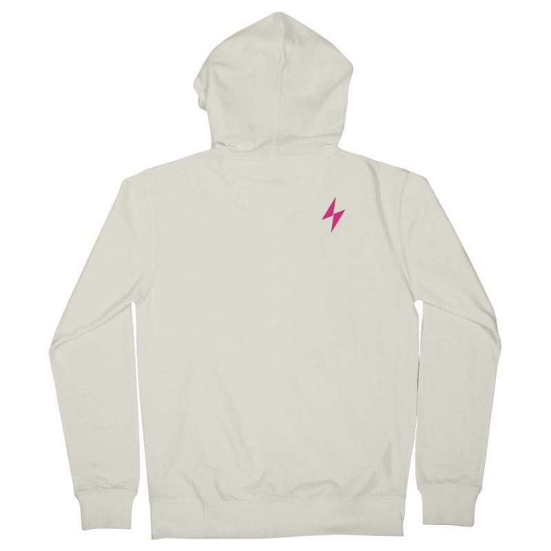 Electric Bolt - Pocket Tee -  Electric Pink Men's Zip-Up Hoody by Electric Graphic Design