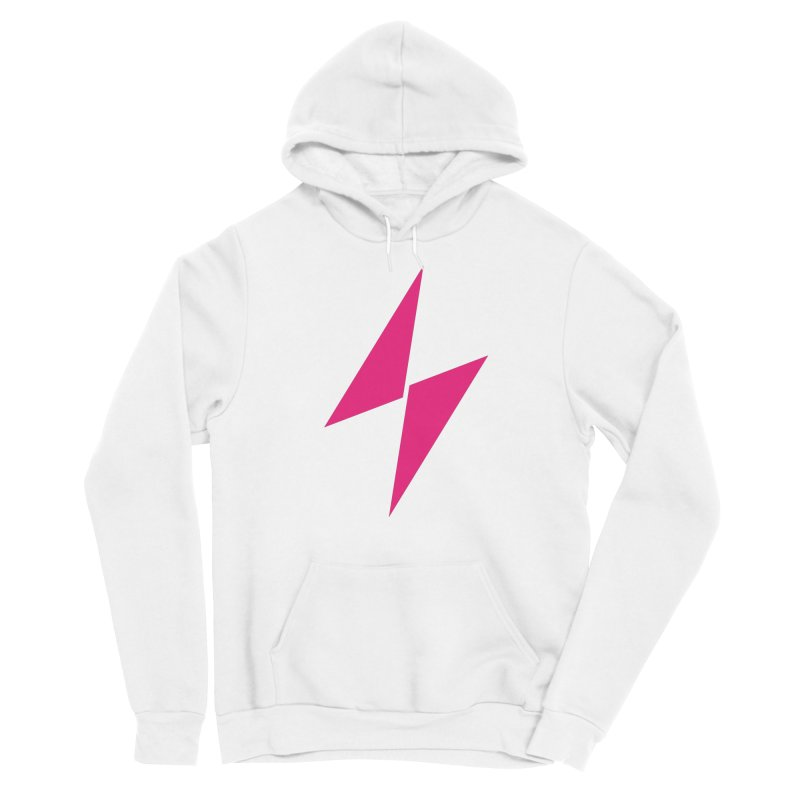 Electric Bolt - Full Frontal - Electric Pink Women's Pullover Hoody by Electric Graphic Design