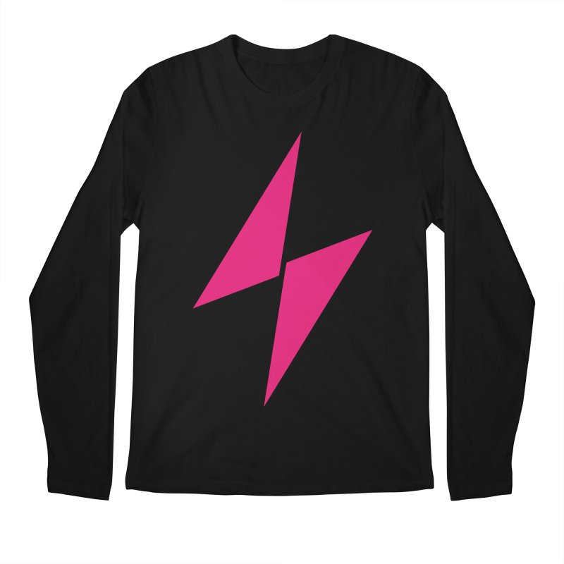 Electric Bolt - Full Frontal - Electric Pink Men's Longsleeve T-Shirt by Electric Graphic Design