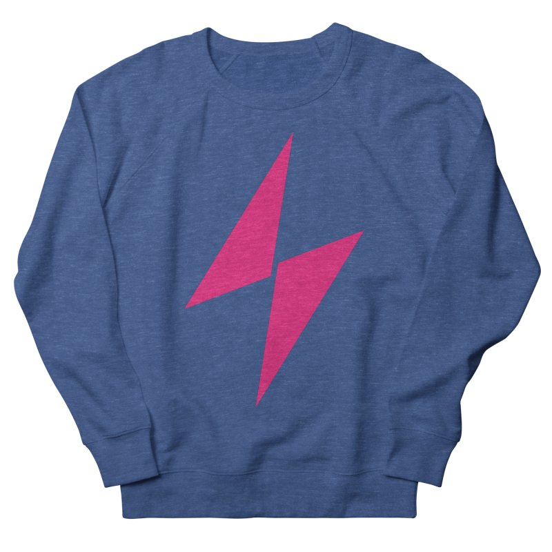 Electric Bolt - Full Frontal - Electric Pink Women's Sweatshirt by Electric Graphic Design