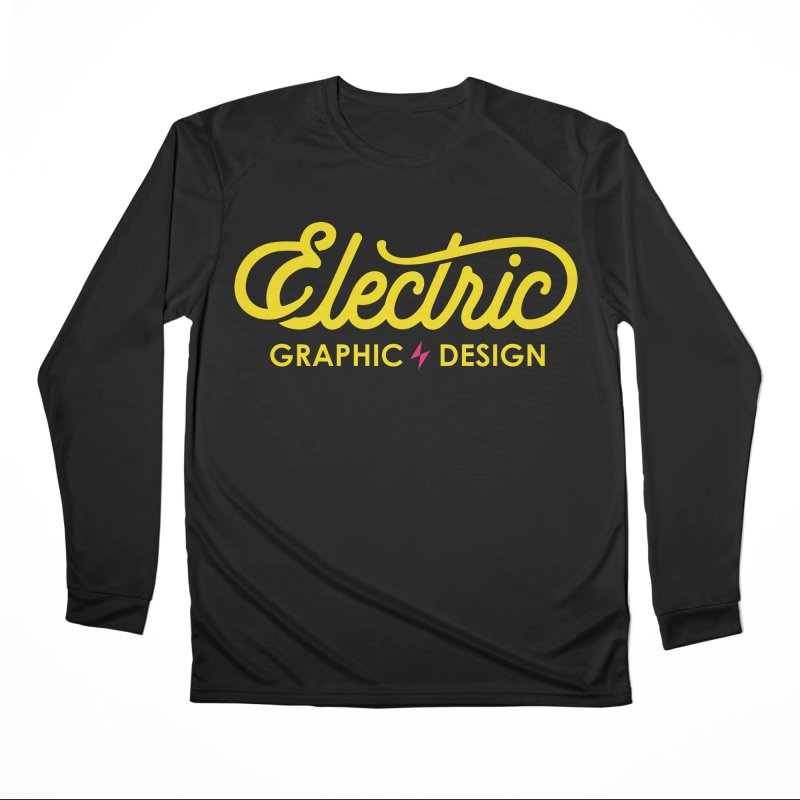Electric Wordmark - Yellow Women's Longsleeve T-Shirt by Electric Graphic Design