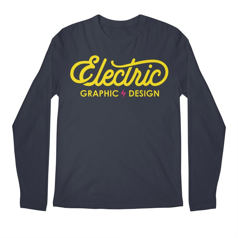 Electric Wordmark - Yellow Men's Longsleeve T-Shirt by Electric Graphic Design