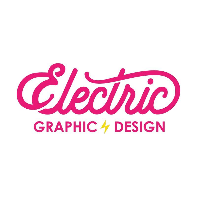 Electric Wordmark - Pink Men's Sweatshirt by Electric Graphic Design