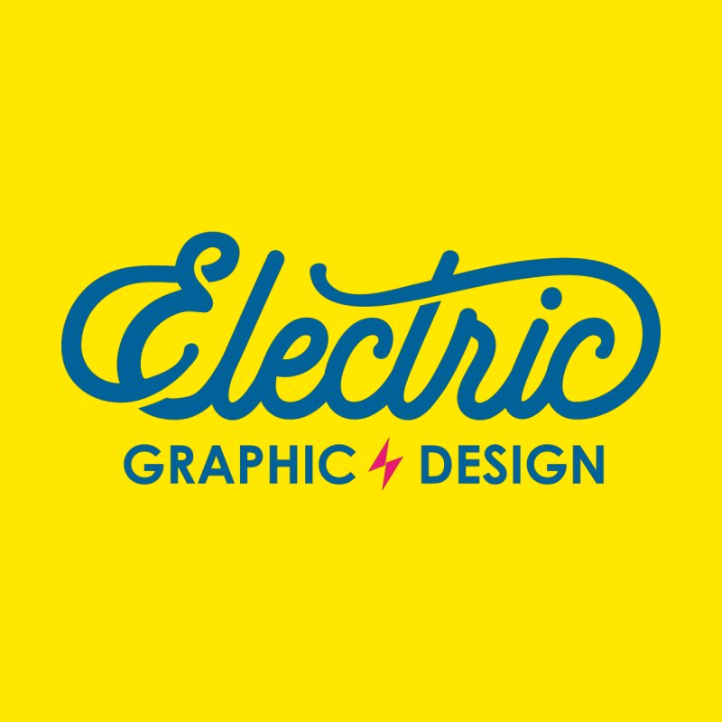 Electric Wordmark - Blue Men's Sweatshirt by Electric Graphic Design