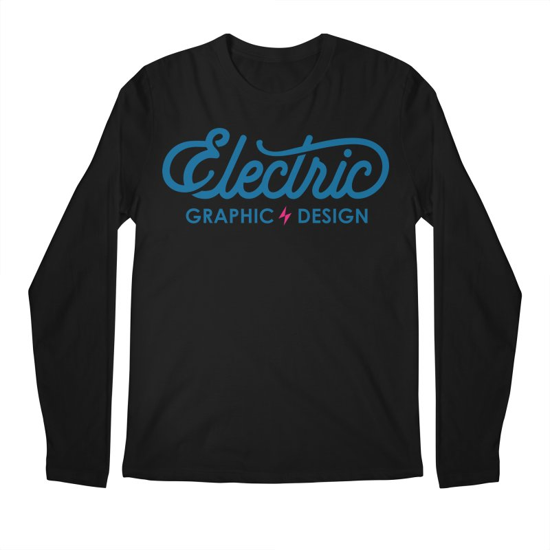 Electric Wordmark - Blue Men's Longsleeve T-Shirt by Electric Graphic Design