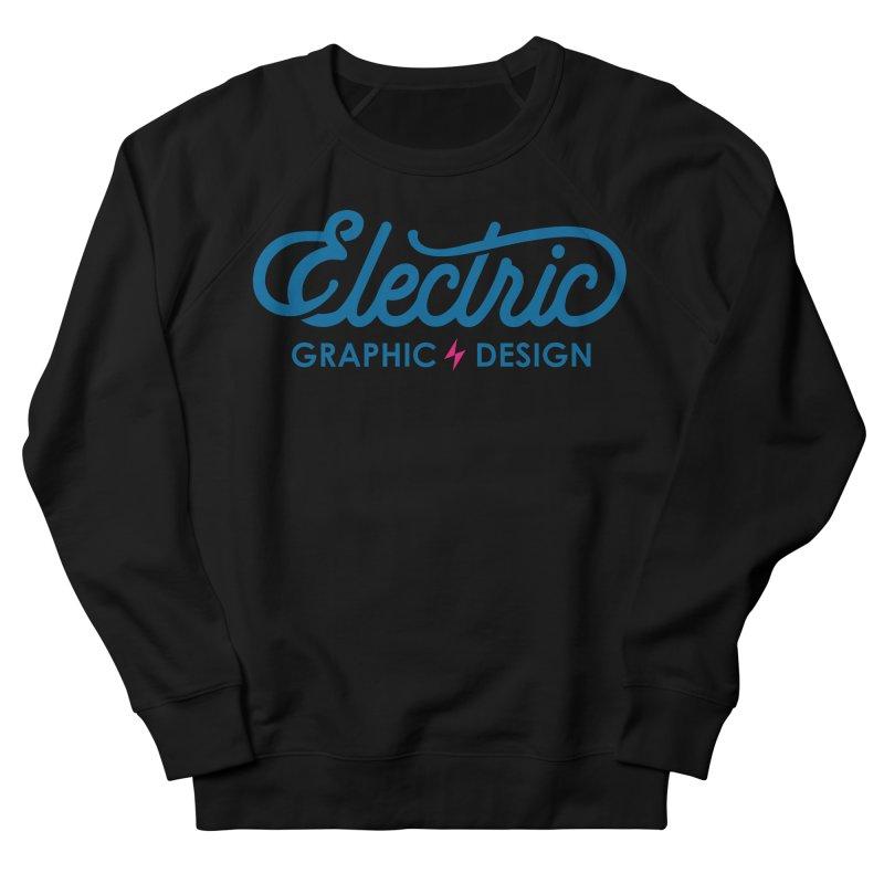 Electric Wordmark - Blue Women's Sweatshirt by Electric Graphic Design