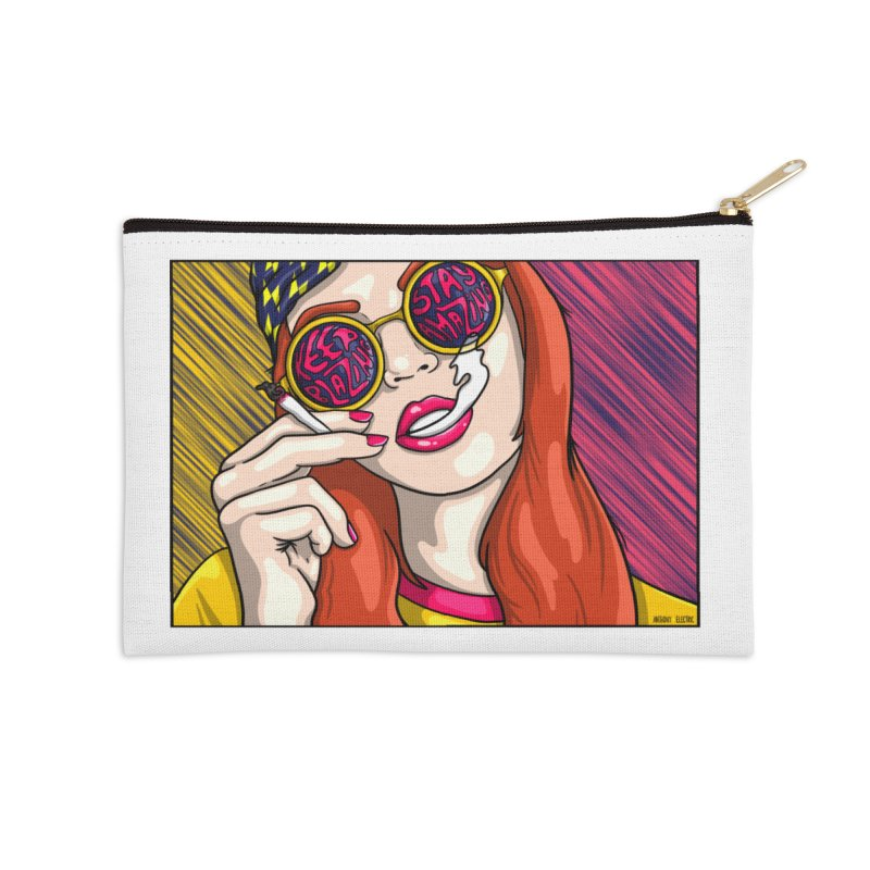 Keep Blazing, Stay Amazing Accessories Zip Pouch by Electric Graphic Design