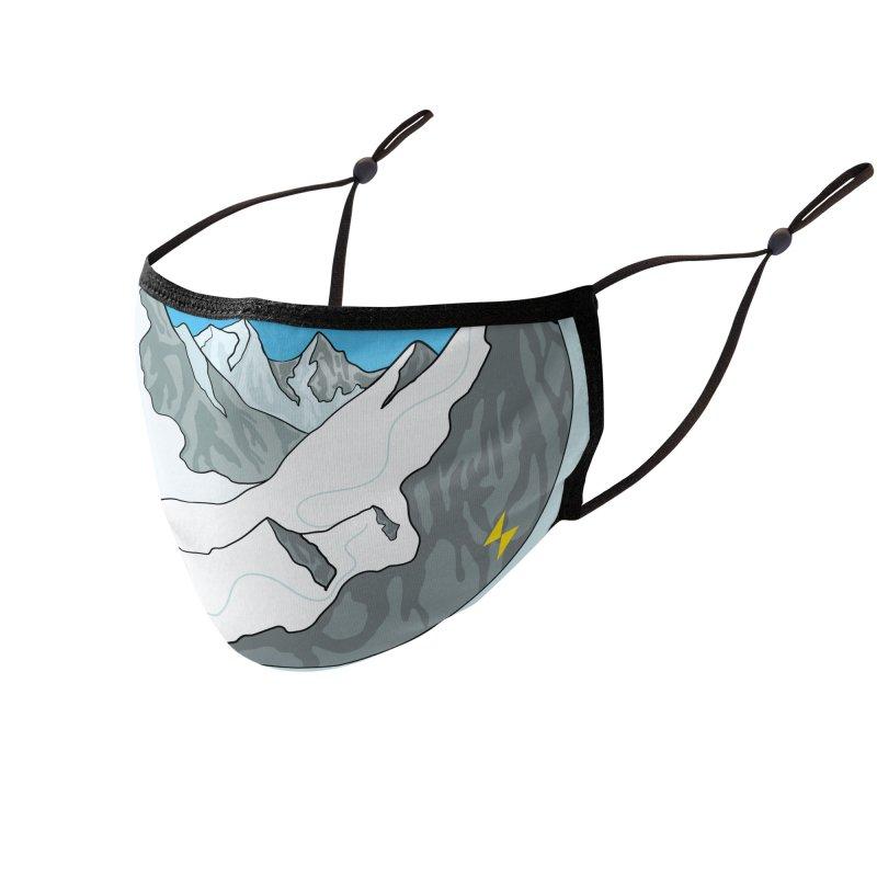 Bigfoot Shreddin' Accessories Face Mask by Electric Graphic Design