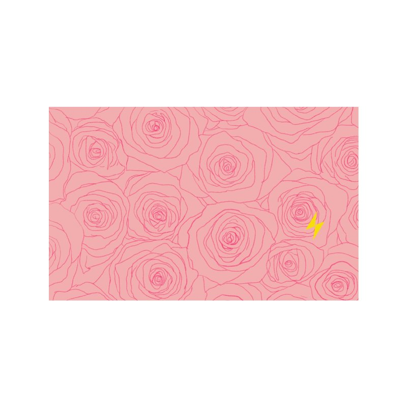 Stop and Smell the Roses Accessories Face Mask by Electric Graphic Design