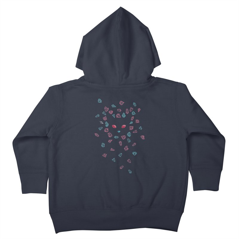 Crystals Kids Toddler Zip-Up Hoody by eleken's Artist Shop