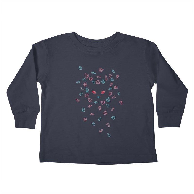 Crystals Kids Toddler Longsleeve T-Shirt by eleken's Artist Shop
