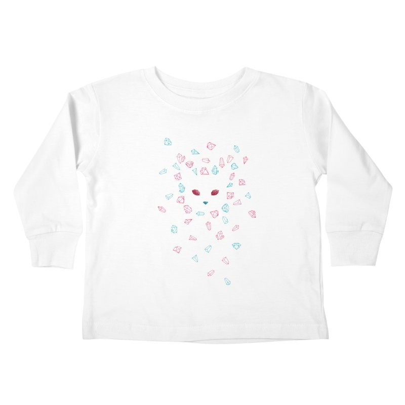 Crystals Kids Toddler Longsleeve T-Shirt by eleken's Artist Shop