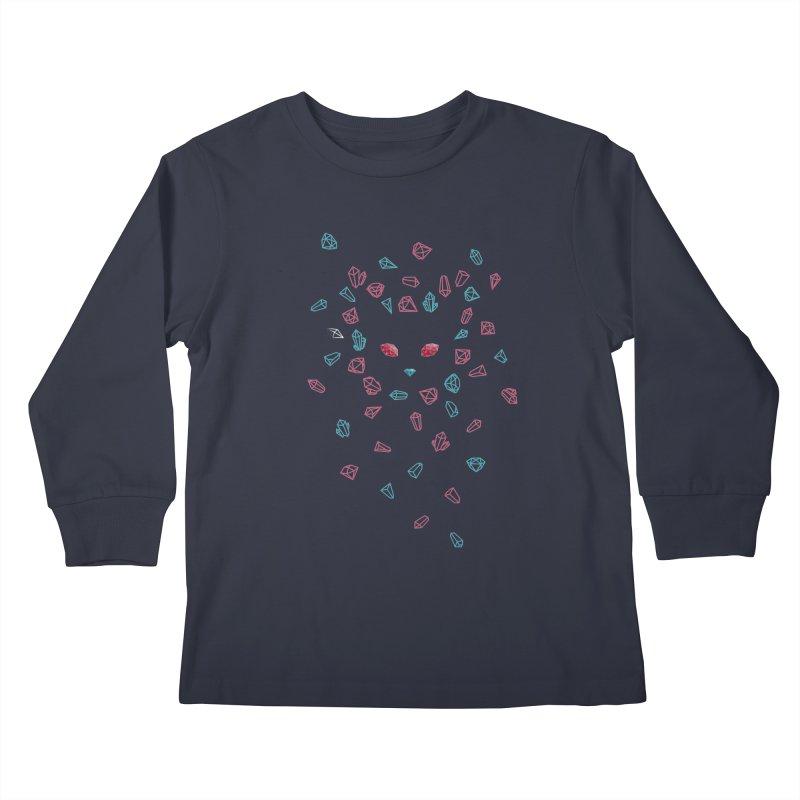 Crystals Kids Longsleeve T-Shirt by eleken's Artist Shop