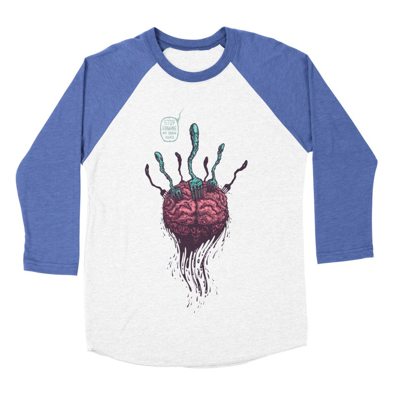 Forking Talkers Men's Baseball Triblend T-Shirt by eleken's Artist Shop
