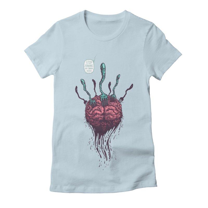 Forking Talkers Women's Fitted T-Shirt by eleken's Artist Shop