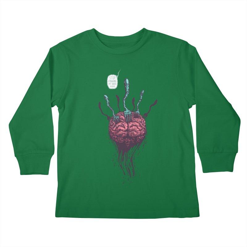 Forking Talkers Kids Longsleeve T-Shirt by eleken's Artist Shop