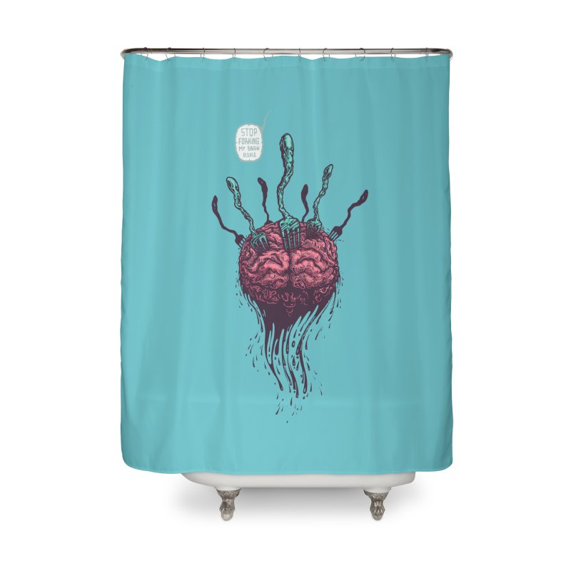 Forking Talkers Home Shower Curtain by eleken's Artist Shop