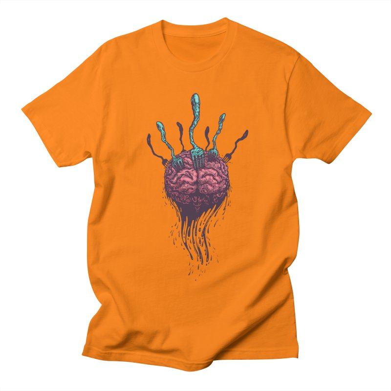 Stop forking my brain Women's Unisex T-Shirt by eleken's Artist Shop