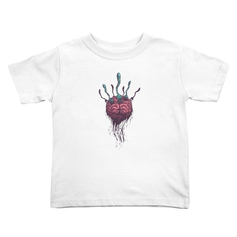 Stop forking my brain Kids Toddler T-Shirt by eleken's Artist Shop
