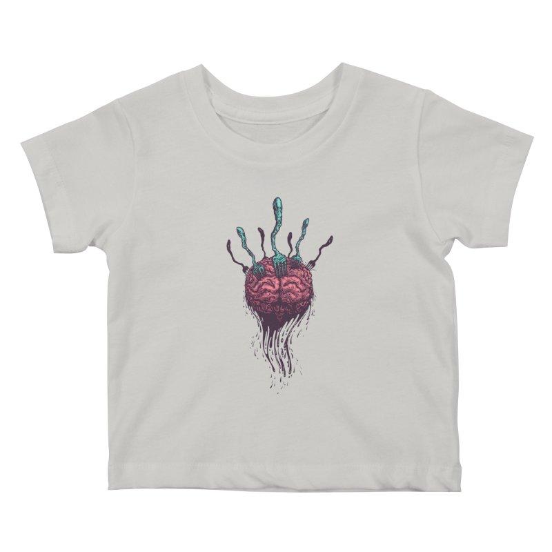 Stop forking my brain Kids Baby T-Shirt by eleken's Artist Shop