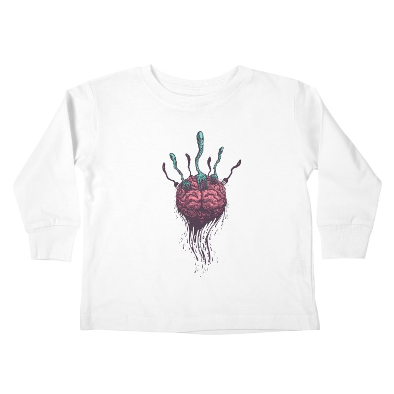 Stop forking my brain Kids Toddler Longsleeve T-Shirt by eleken's Artist Shop