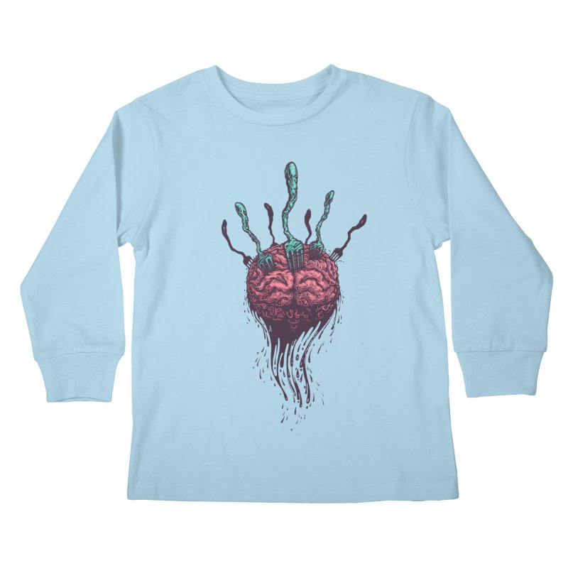 Stop forking my brain Kids Longsleeve T-Shirt by eleken's Artist Shop