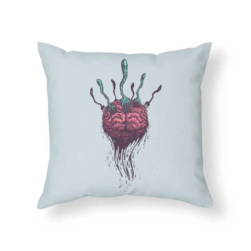 Stop forking my brain Home Throw Pillow by eleken's Artist Shop