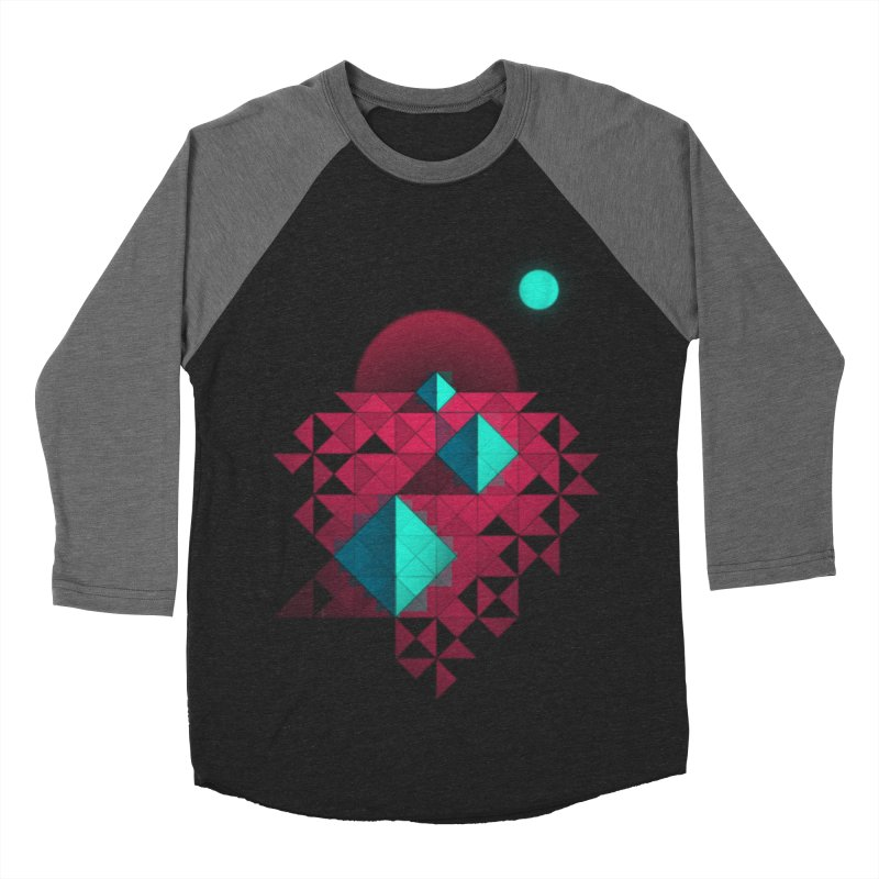 Shapes2 Men's Baseball Triblend T-Shirt by eleken's Artist Shop