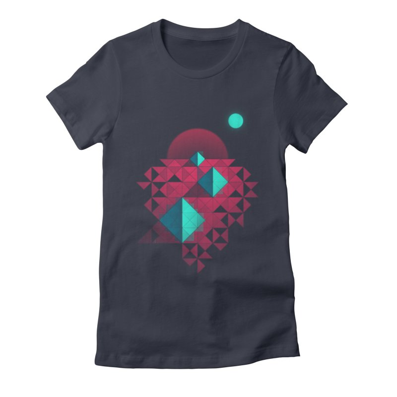 Shapes2 Women's Fitted T-Shirt by eleken's Artist Shop