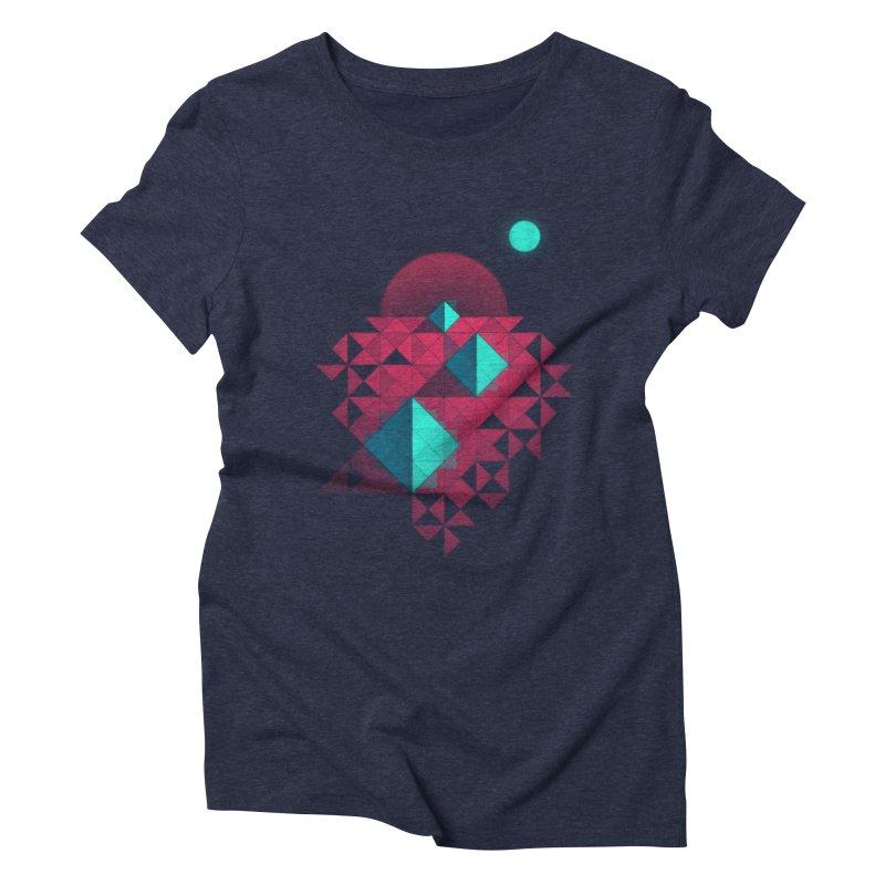 Shapes2 Women's Triblend T-shirt by eleken's Artist Shop