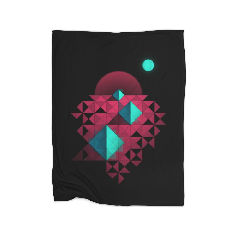 Shapes2 Home Blanket by eleken's Artist Shop