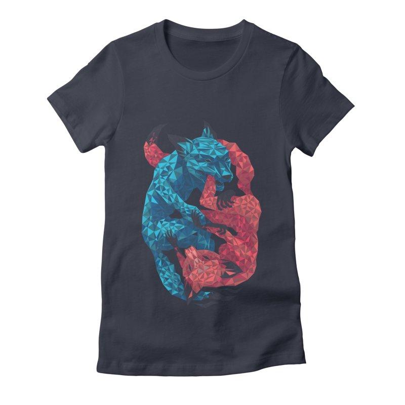 Chase Women's Fitted T-Shirt by eleken's Artist Shop