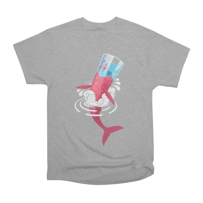 Whale Men's Heavyweight T-Shirt by eleken's Artist Shop