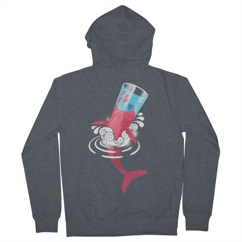 Whale Men's Zip-Up Hoody by eleken's Artist Shop