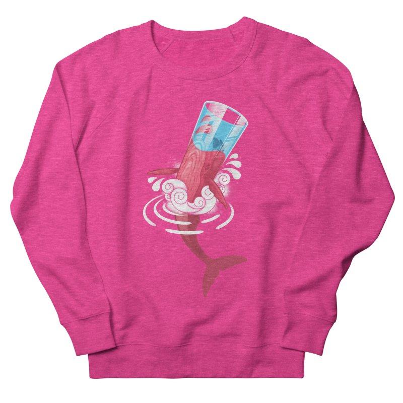 Whale Women's French Terry Sweatshirt by eleken's Artist Shop