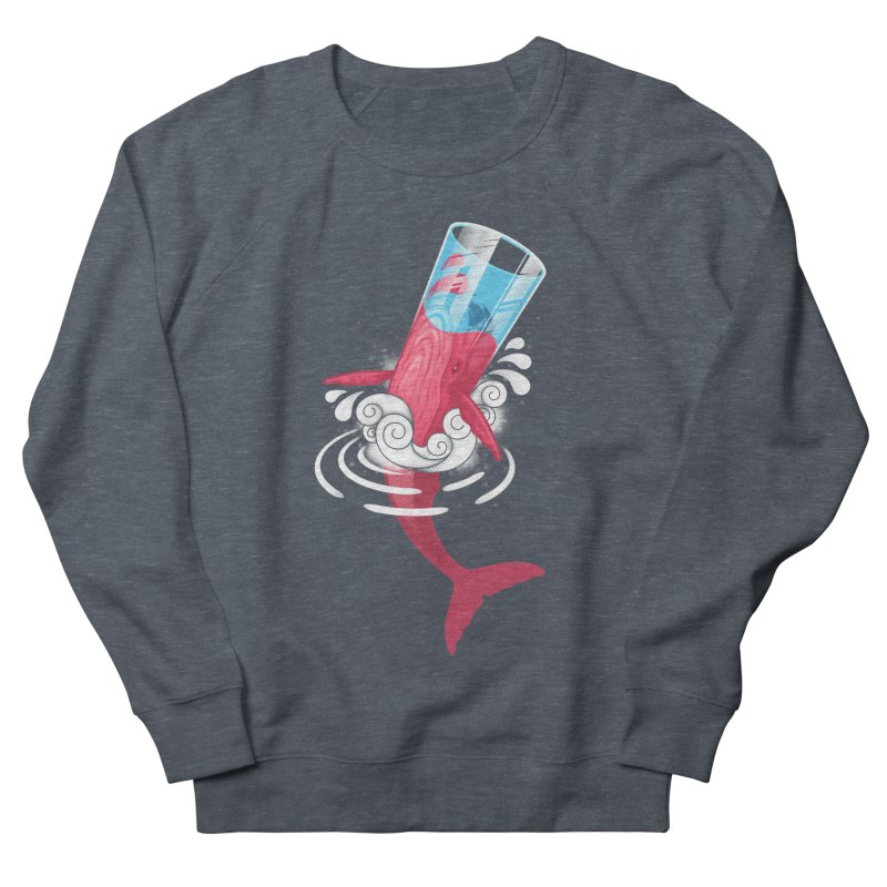 Whale Men's French Terry Sweatshirt by eleken's Artist Shop