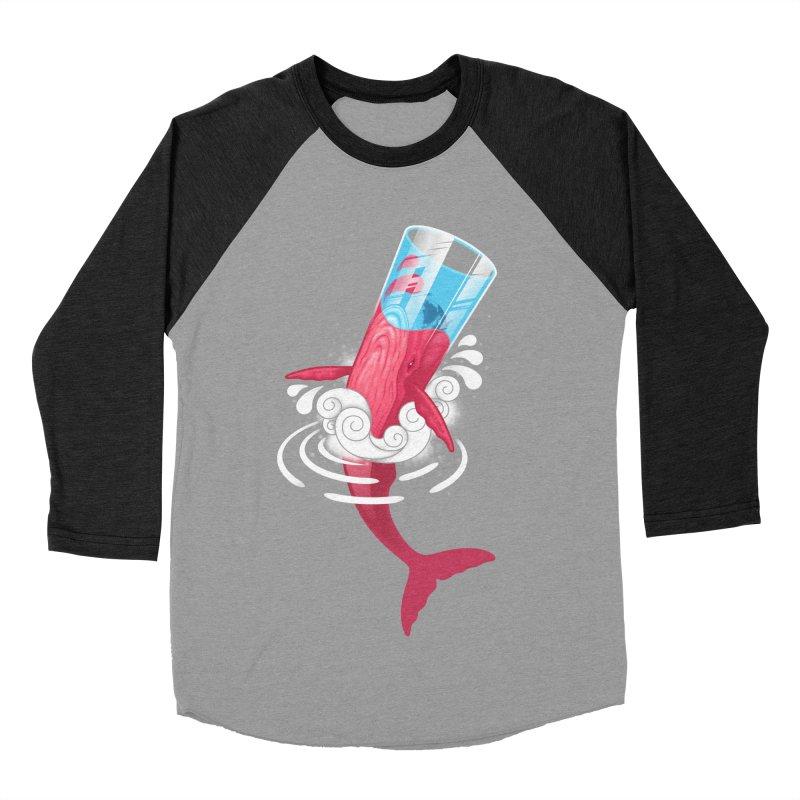 Whale Women's Baseball Triblend T-Shirt by eleken's Artist Shop
