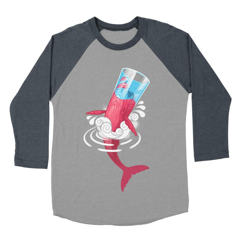 Whale Women's Baseball Triblend Longsleeve T-Shirt by eleken's Artist Shop