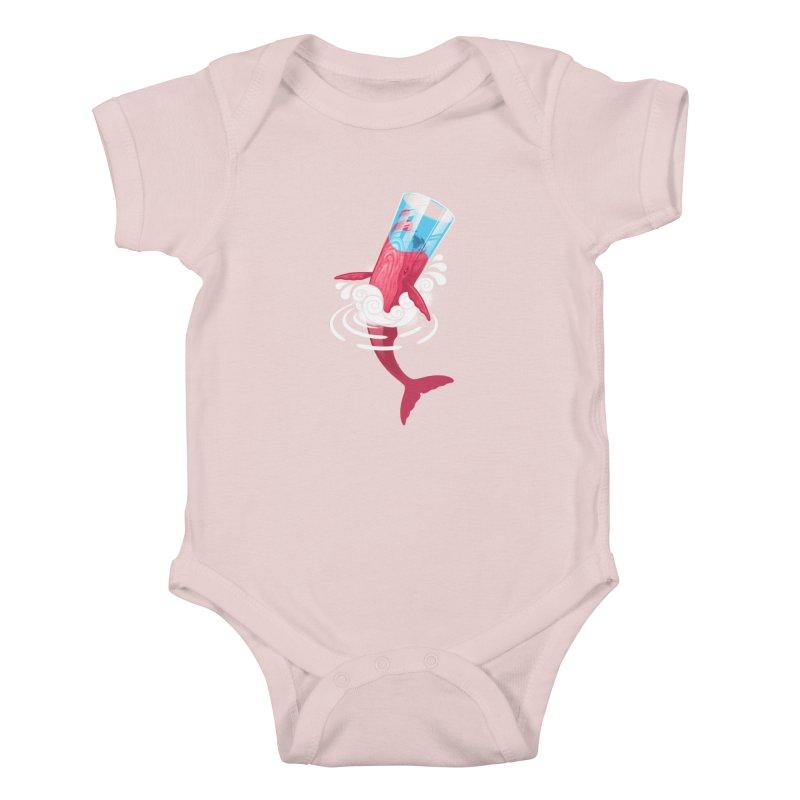 Whale Kids Baby Bodysuit by eleken's Artist Shop