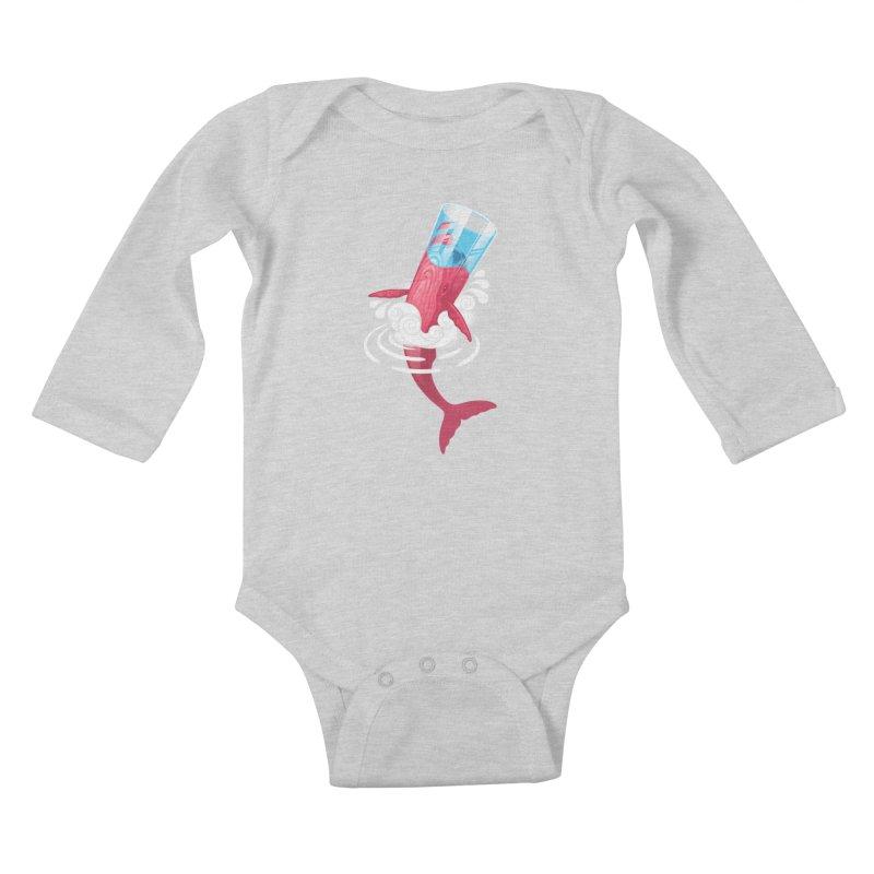 Whale Kids Baby Longsleeve Bodysuit by eleken's Artist Shop