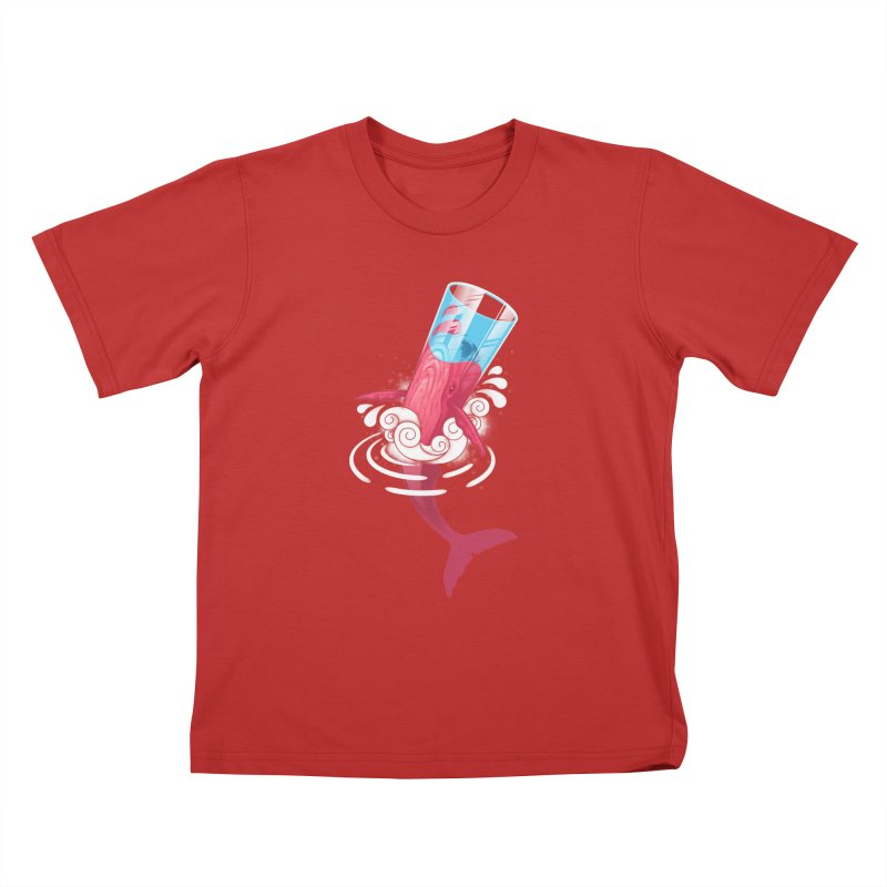 Whale Kids T-Shirt by eleken's Artist Shop