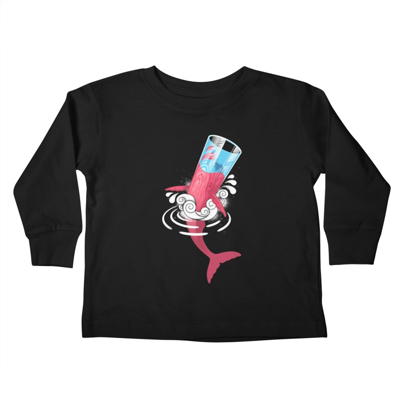 Whale Kids Toddler Longsleeve T-Shirt by eleken's Artist Shop
