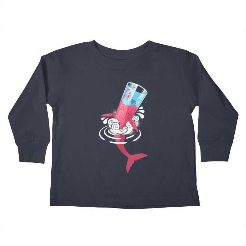 Whale Kids Toddler Longsleeve T-Shirt by eleken's Artist Shop
