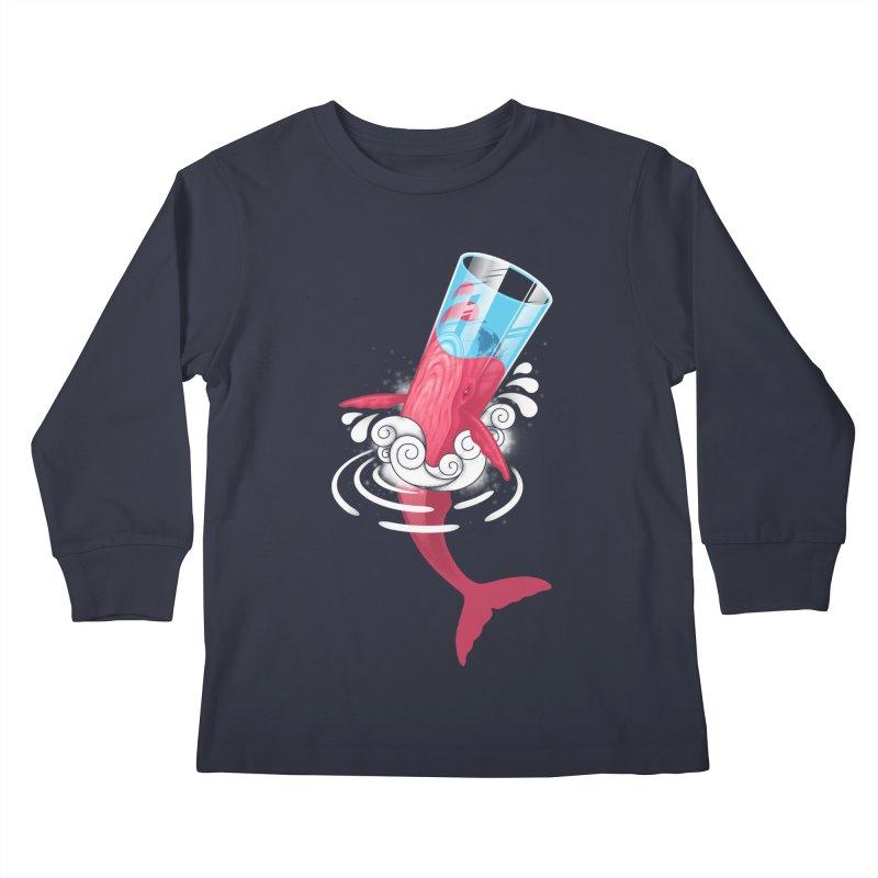 Whale Kids Longsleeve T-Shirt by eleken's Artist Shop