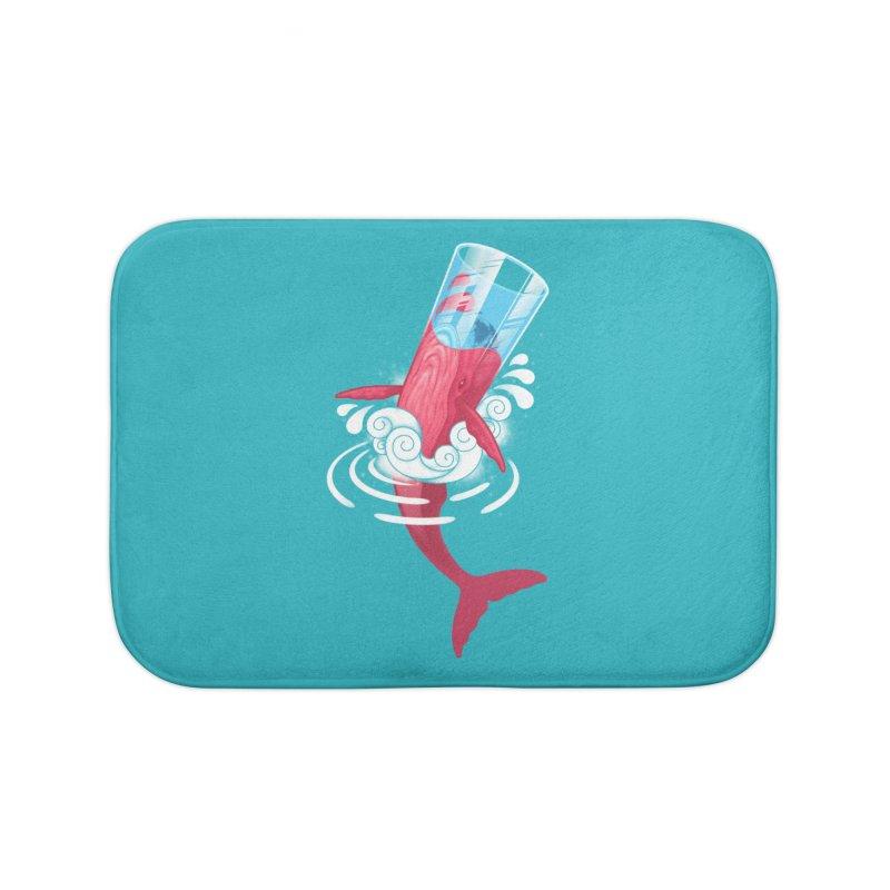 Whale Home Bath Mat by eleken's Artist Shop