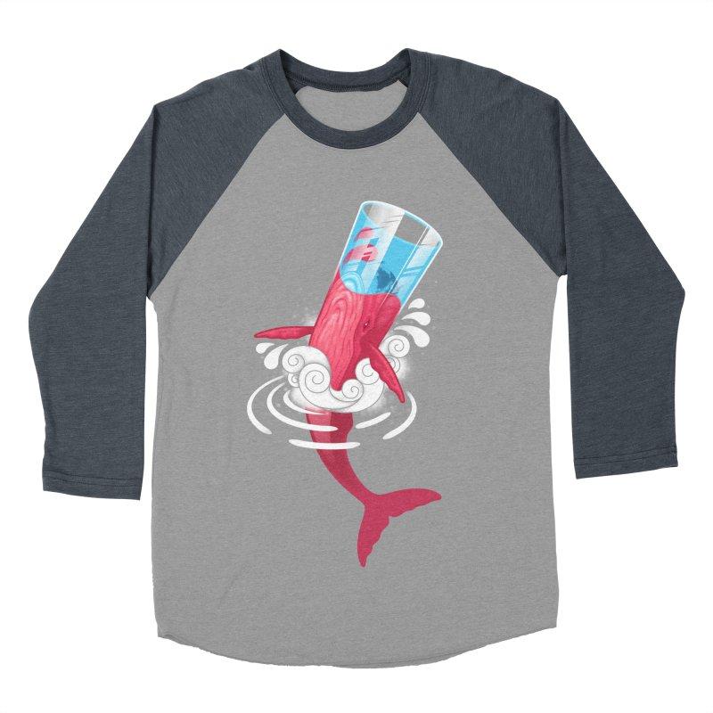 Whale Men's Baseball Triblend T-Shirt by eleken's Artist Shop