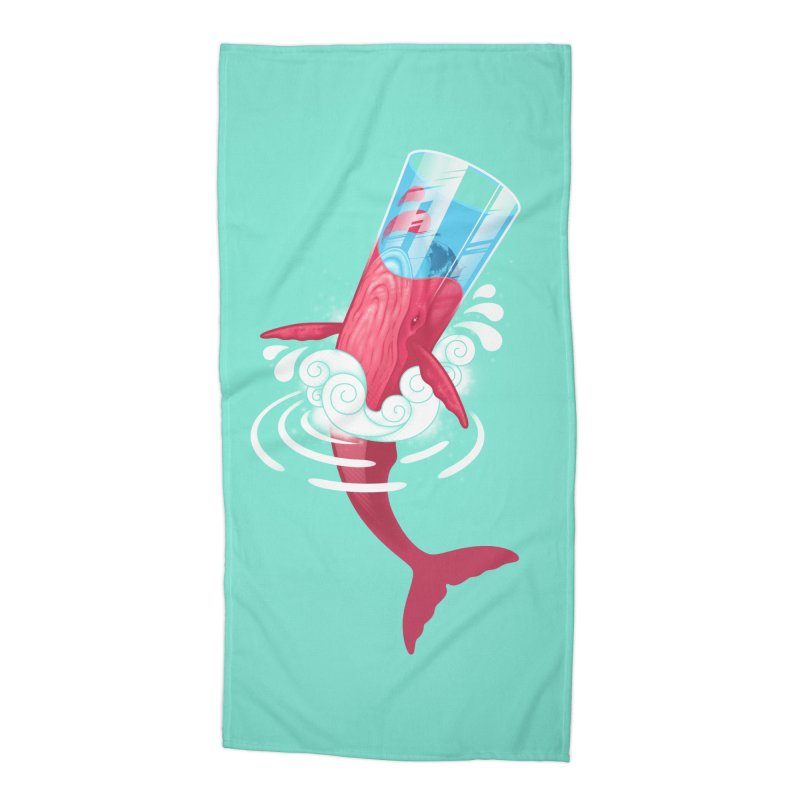 Whale Accessories Beach Towel by eleken's Artist Shop